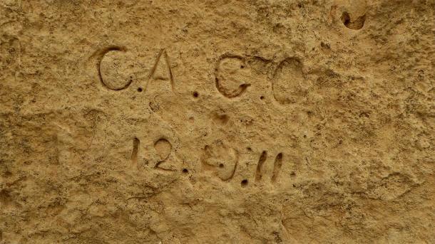 Graffiti representativo en un sitio megalítico en Malta, España (Ethan Doyle White / CC BY-SA 4.0)