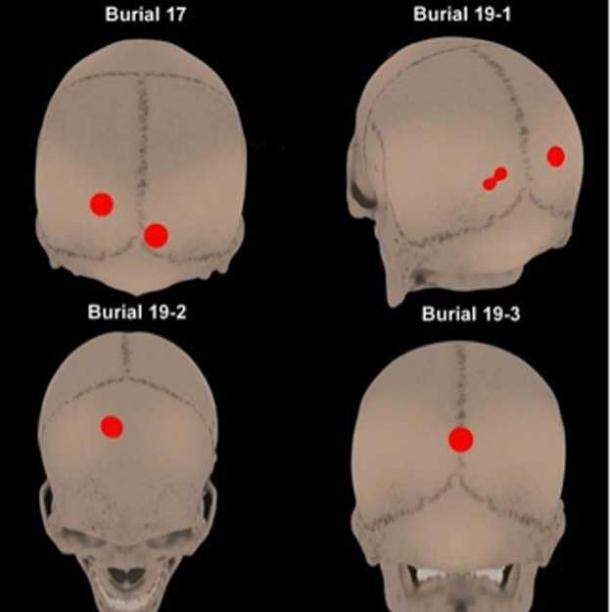 Los investigadores encontraron marcas que sugieren que los cráneos fueron montados y utilizados como cabezas de trofeos en exhibiciones rituales de poder sobre áreas recién conquistadas. (F. Garrido y C. Morales / Uso justo)