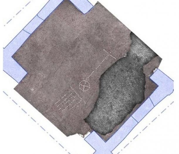 Los investigadores creen que la primera representación de un groma ha sido descubierta en los restos de la Casa de Orión. (L. Ferro, G Magli, M. Osanna)