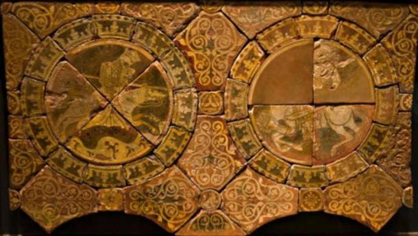Azulejos de Ricardo Corazón de León, izquierda, y Saladino, derecha. (Ealdgyth / CC BY SA 3.0)
