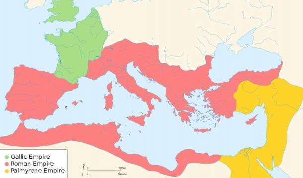 El imperio romano se dividió en tres facciones. (Ras67 /CC BY-SA 3.0)