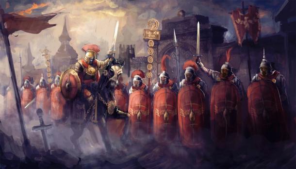 Soldados romanos y sus generales (vukkostic/ Adobe Stock)