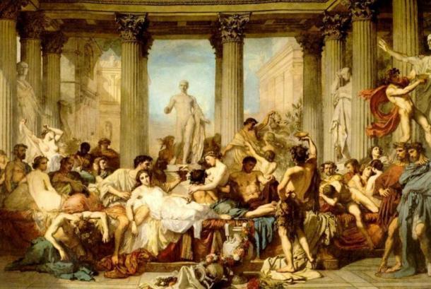 'Los romanos de la decadencia' (1847) de Thomas Couture. (Dominio público) La vida cotidiana en la antigua Roma no era todo fiesta.