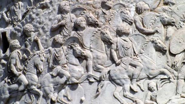 Los antiguos romanos aniquilaron el Reino de Numidia reduciéndolo con el tiempo a una sombra de su antigua grandeza. La imagen muestra la caballería númida en la columna de Trajano en Roma. Fuente: Wargames de JJ