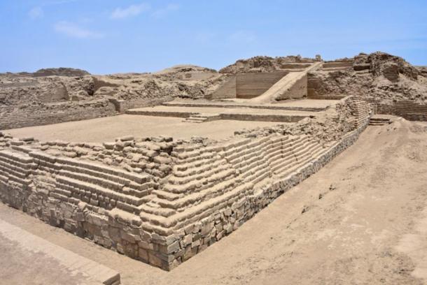 Este mapa muestra el sitio arqueológico de Pachacamac y la ubicación del templo pintado, donde se descubrió el ídolo en 1938. (Sepúlveda M, Pozzi-Escot D, Angeles Falcón R, Bermeo N, Lebon M, Moulhérat C, et al. (2020) )/ PlosOne)