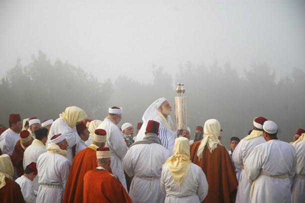 Samaritanos en el Monte Gerizim durante la Pascua. (Ras67 / CC BY-SA 3.0)
