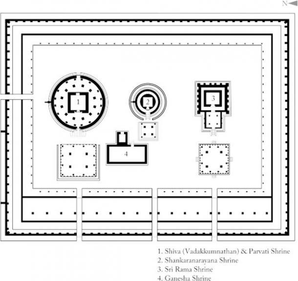 Diseño de Sanctum Sanctorum en un templo indio (Arjuncm3 / CC BY-SA 4.0)