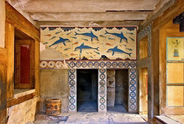 Solo una de las escenas fantásticas que se encuentran en el palacio de Cnossos, Grecia, donde una vez se usó y se perdió el guión Linear A. (Iraklis Milas / Adobe Stock)