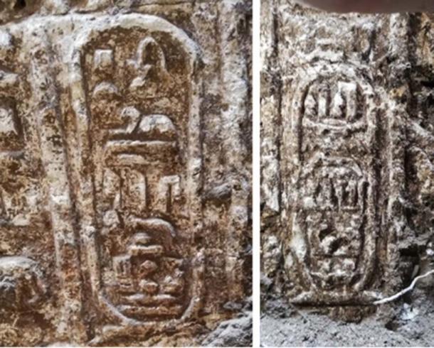 Se han descubierto jeroglíficos que incluyen el nombre de Ptolomeo IV. (Ministerio de Antigüedades)