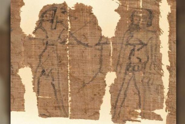 El hechizo sexual incluye una imagen de Anubis disparando una flecha a Kephalas. (Universidad de Michigan)