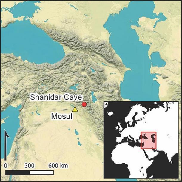 La cueva de Shanidar se convirtió en un sitio paleolítico emblemático tras el descubrimiento de restos neandertales por parte de Ralph Solecki. (Antiquity Publications Ltd)