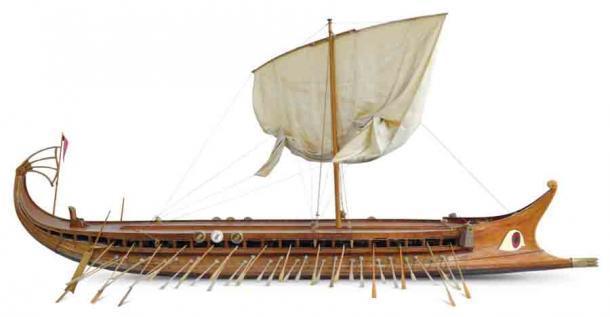 Las guerras greco-persas duraron 50 años y los griegos libraron muchas batallas navales con los persas, que utilizaron barcos como estos. (Omicroñ'R / CC BY-SA 4.0)