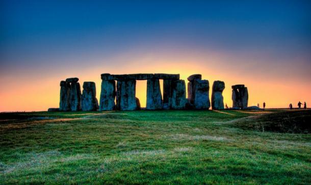 El famoso lugar de Stonehenge, Wiltshire