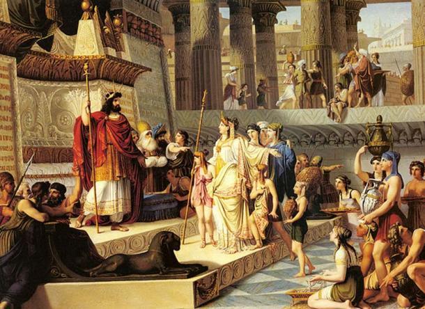 'Salomón y la reina de Saba' de Giovanni Demin. (Dominio público)