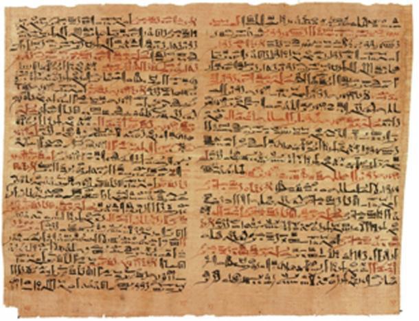Algunos de los antiguos papiros tienen tinta de color. (Jeff Dahl / Dominio público)