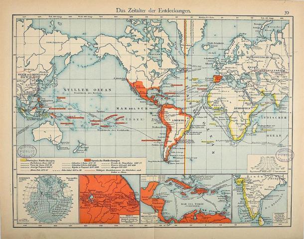Los imperios coloniales español y portugués en el siglo XVI. (FDRMRZUSA / Dominio público)