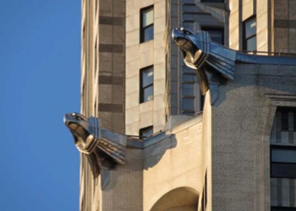Gárgolas de acero inoxidable en el edificio Chrysler en Nueva York. (Raw2daBon3 / Public Domain)