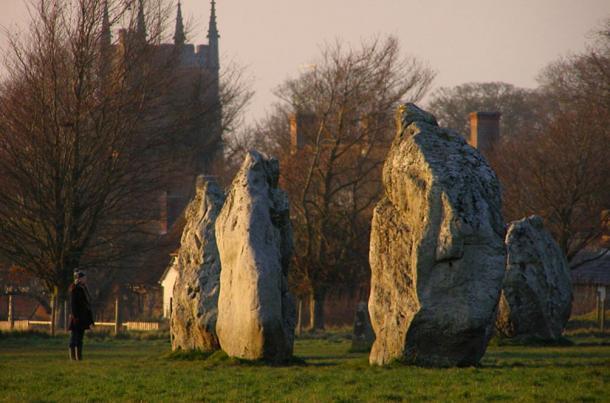 Algunos de los monolitos en Avebury (foto de Jim Champion
