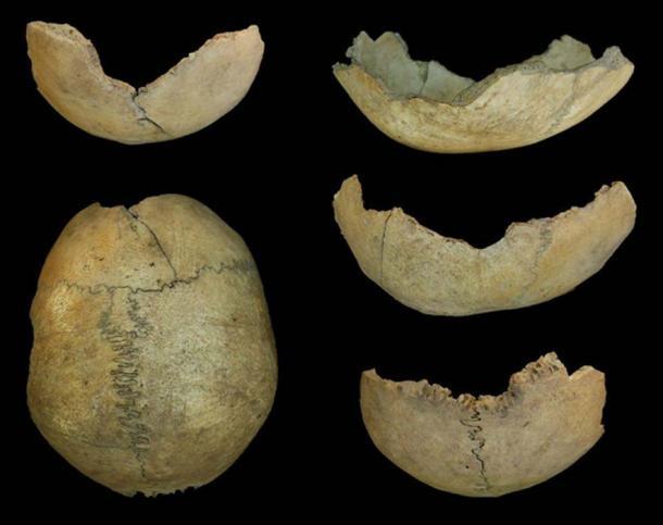 Taza de cráneo neolítico de la Cueva de El Toro, España. (Dr. Jonathan Santana-Cabrera/ Universidad de Durham)