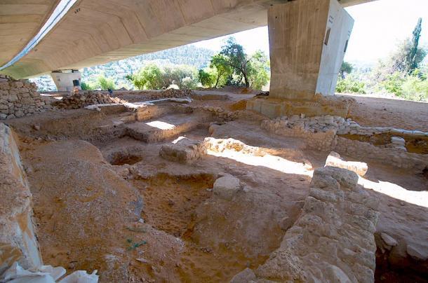 El sitio de excavación de la Edad de Hierro Tel Motzaen Jerusalén. (Natritmeyer / CC BY-SA 4.0)