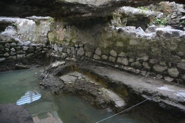 El temazcal, sudadera, se encuentra en La Merced, Ciudad de México, México. (INAH)