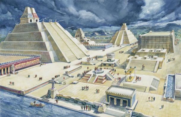 La gran ciudad de Tenochtitlan. Fuente de la imagen.