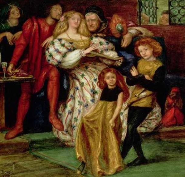 La familia Borgia de Dante Gabriel Rossetti. (Dominio público)