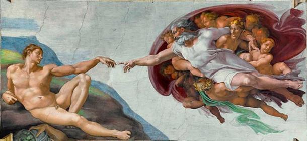 'La creación de Adán' (c. 1511) de Miguel Ángel. (Dominio público)