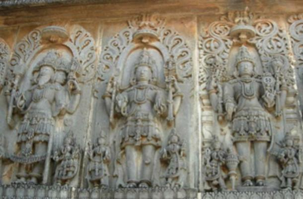 La Trinidad hindú - Brahma, Siva, Vishnu. (Calvinkrishy ~ commonswiki / CC BY-SA 3.0)