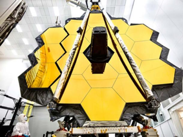 El telescopio espacial James Webb es el observatorio espacial más avanzado del mundo. Esta maravilla de la ingeniería está diseñada para desentrañar algunos de los mayores misterios del universo y podrá ayudar a detectar vida alienígena en planetas distantes. (Telescopio espacial James Webb de la NASA / CC BY-SA 2.0)