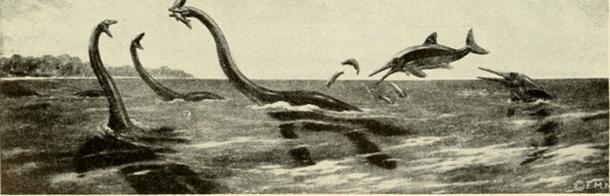 El monstruo del lagoNess se describe como un reptil marino mesozoico. (Fæ / Dominio Público)