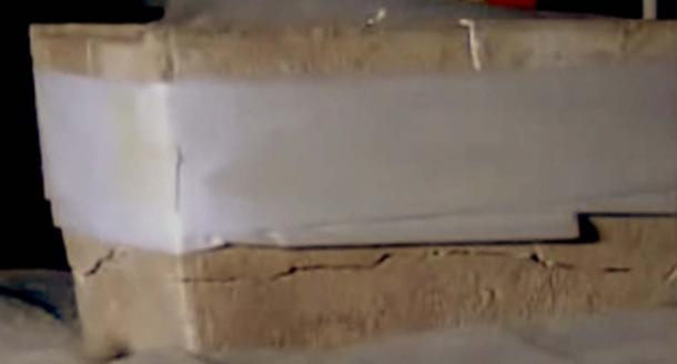 El osario de James fue resquebrajado en el envío. (ActsNewsNetwork / YouTube Screenshot)