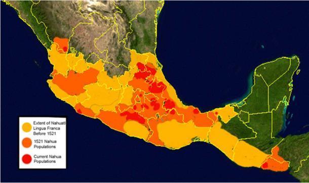 El ascenso y la caída del náhuatl. (Dominio público)