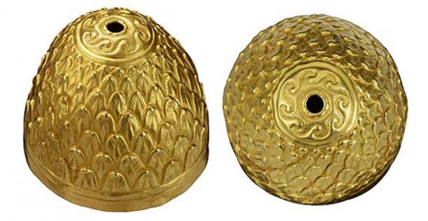 El recipiente ritual escita tiene la forma de un cono y está decorado con lo que parece ser un diseño de hoja (Línea de tiempo / Fair Use)