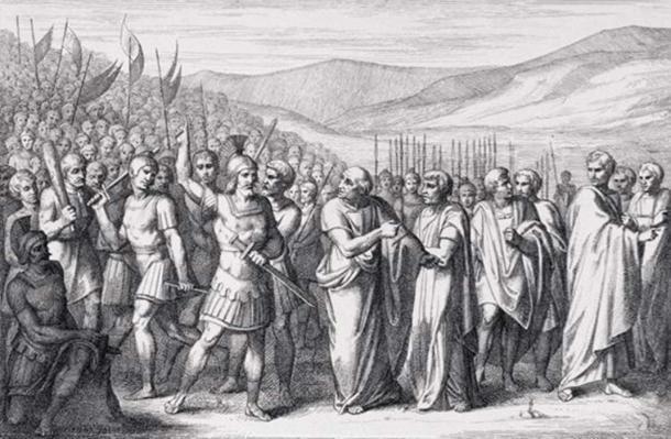 La secesión de los plebeyos a la montaña sagrada. (B. Barloccini / Dominio público)