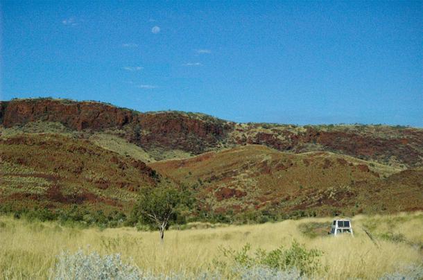 El sitio de la antigua corteza oceánica expuesta en el oeste de Australia. (Imagen: Universidad Estatal de Iowa)