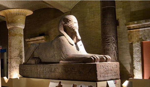 La esfinge ubicada anteriormente en la Galería de Egipto en el Museo Penn. (Penn Museum)
