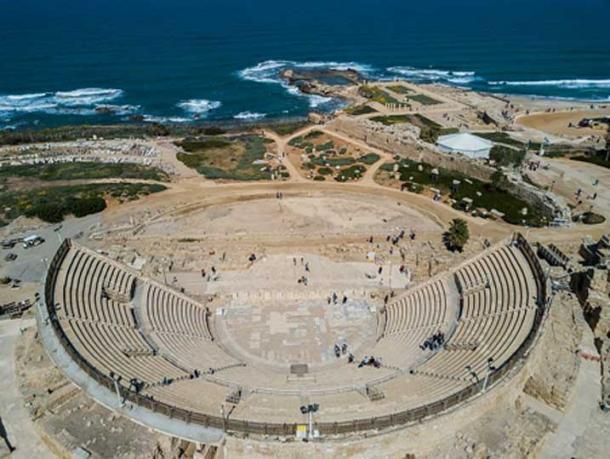 El teatro en Cesarea Marítima. (CC BY-SA 4.0)