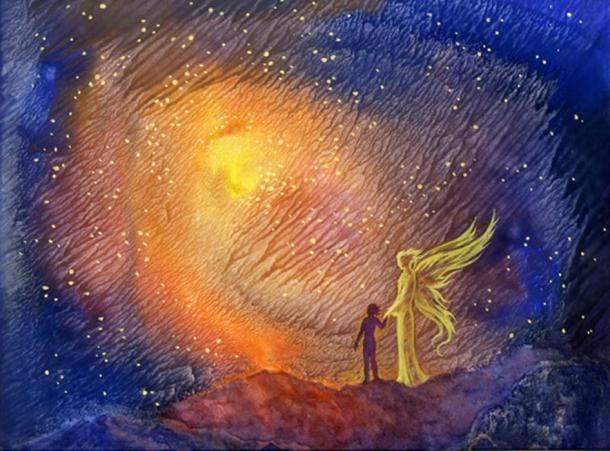 Entrar en el espacio era invadir los cielos, el territorio de los ángeles (natalia9 / AdobeStock).