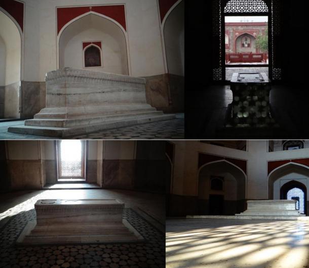 El auténtico lugar en el que se encuentra la tumba en la que está enterrado Humayun. Fotografía de: Jyotsnav, 2013.