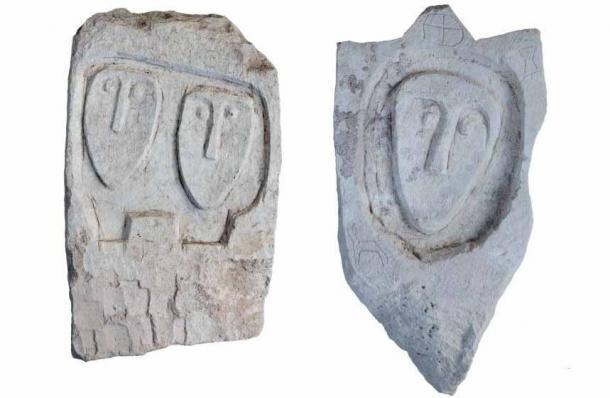 """Dos más de las lápidas """"únicas"""" encontradas en la necrópolis de Crimea escita. (Instituto Ruso de Arqueología RAS)"""