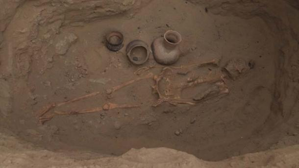 Una tumba Moche descubierta en Pucala, Perú. (Ministerio de Cultura)