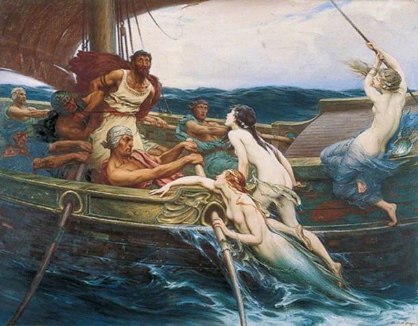 Ulises Odiseo y las sirenas de Herbert James Draper. (Dominio público)