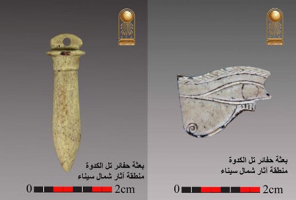 Un amuleto con el nombre de Rey Psmatik fue encontrado. (Ministerio de Antigüedades)