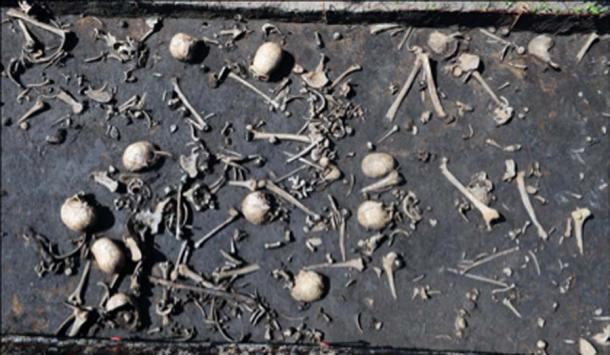 Fotografía del campo de batalla encuentra capa. Crédito: Antiquity Publications Ltd. / Uhlig et al., (2019), fotografía de S. Sauer
