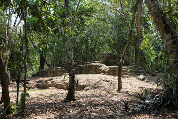 """Tzunu'un (""""colibrí""""), una casa maya en El Pilar, Belice. (Kaldari / CC0)"""