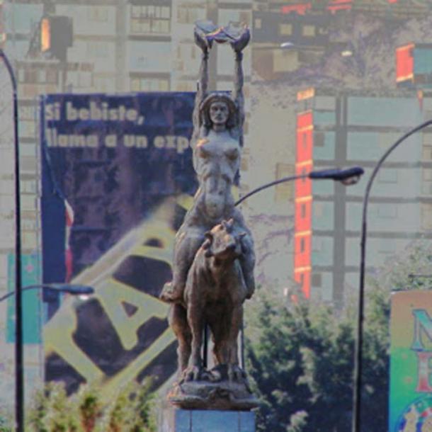 Estatua de Maria Lionza. (Indio venezolano)