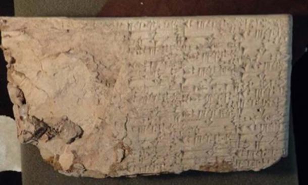 Una tableta cuneiforme importada ilegalmente por Hobby Lobby en 2007. (Bluerasberry / Public Domain)