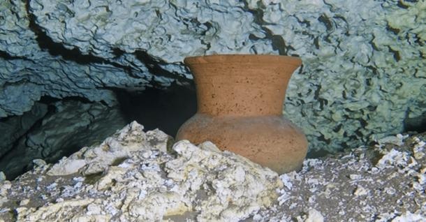 Mayan vase still had bone fragments from rituals. (Karla Ortega / GAM Project)