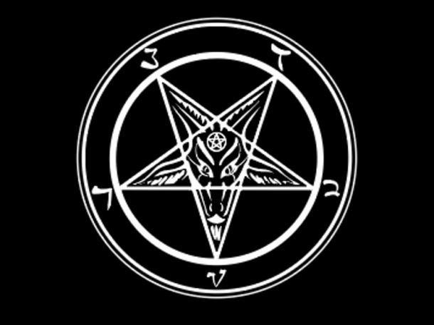 El símbolo satánico de un pentagrama invertido con Baphomet en el centro. Crédito: robin_ph / Adobe Stock